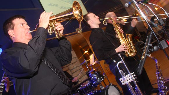 Retrospect Band's horn section rounds out the sound