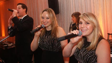 Retrospect Band's three amazing and versatile vocalists perform at a recent wedding