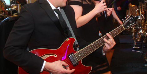 Retrospect Band performs for a wedding