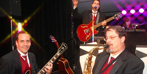 Retrospect Band performs for a military ball