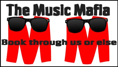 Parody logo for a fictional entertainment agency called The Music Mafia