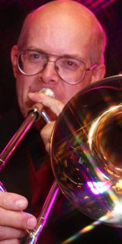 Parker - trombonist and vocalist for Retrospect Band