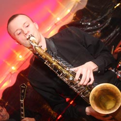 Charlie - lead sax player and vocalist for Retrospect Band