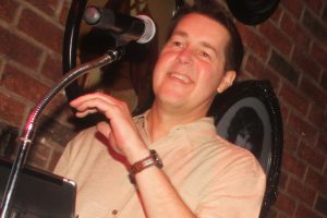 Retrospect Band vocalist Mike at a recent club showcase