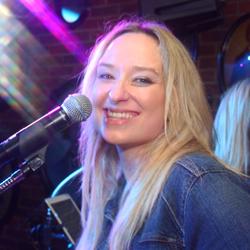 Retrospect Band lead singer Tara at a recent club showcase